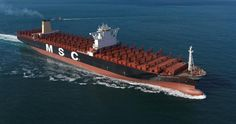 World's largest container ship MSC Oscar with 19224 TEU Capacity