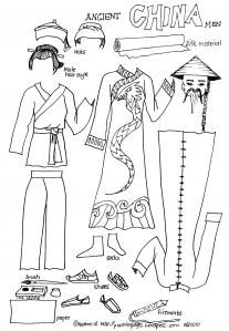 $0 AMAZING Historical and Cultural Paper Dolls. Homeschooling mom artist who shares! So grateful, not for the internet...but for people with generous hearts. Here: Ancient China Men. Great for Sonlight, Story of the World and Mystery of History.