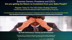 CEO Sales Seminar:Transforming Lackluster/De-Motivated Sales People/Hiri...