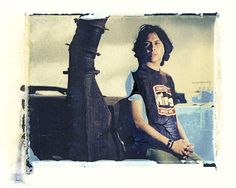 Professional skateboarder and drummer Mario Rubalcaba at The Antique Gas & Steam Engine Museum, Vista, CA. 1993.