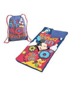 Mickey Mouse Sleeping Bag & Sack  #zulily $16.99