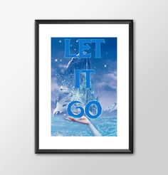 Let It Go From Frozen - Digitally Painted Tribute  - PRINTED - BUY 2 Get 1 FREE by ShamanAlternative on Etsy