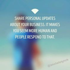 regram @socialstytch Business tip ---------------------------- Don't think you have to lose the human aspect of your business just because you're online advertising. ---------------------------- Don't post ONLY about your product ---------------------------- Post behind the scenes updates ---------------------------- Consumers love to be reminded that they're buying from a human -  -  #socialmediamarketing #coach #tailopez #socialstytch #success #growth #money #contentmarketing #entrepreneur…