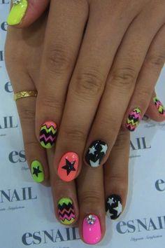 Love this nail art ! Great Nails, Fabulous Nails, Gorgeous Nails, Love Nails, How To Do Nails, Crazy Nails, Garra, Nailart, Nail Time