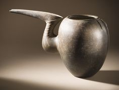Beak-Spouted Grey Ware Pot, Iron Age I (circa 1350-1000 B.C.)  Northern Iran (repin)