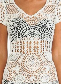 Pretta Crochet: Saida de praia