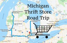 You're in for incredible savings when you set off on this fun-filled thrift store road trip. Manistee Michigan, Petoskey Michigan, Lake Michigan, Flea Markets In Michigan, Manitoulin Island, Travel Tours, Travel Ideas, Travel Destinations, Michigan Travel
