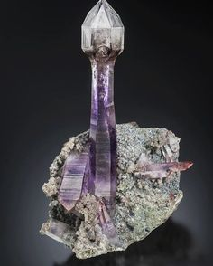 Amethyst Scepter from Namibia | #Geology #GeologyPage #Mineral  Photo Copyright  Scott Rudolph  Geology Page www.geologypage.com