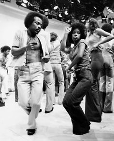 """Watching """"Soul Train"""" on Saturdays at the grandparents' house. No matter how often I watched, I could never bust a move like they do."""