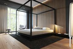 Habitaciones de lujo con paredes acentuadas
