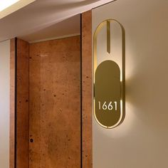 Door signage plate / wall-mounted / metal / luminous by BPLAN Hotel Signage, Door Signage, Wayfinding Signage, Signage Design, Entry Way Design, Plates On Wall, Pendant Lamp, Lighting Design, Decoration