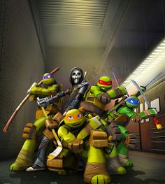 """TMNT – """"The Good, the Bad, and Casey Jones"""" - I love Donnie and Leo's faces!!!"""