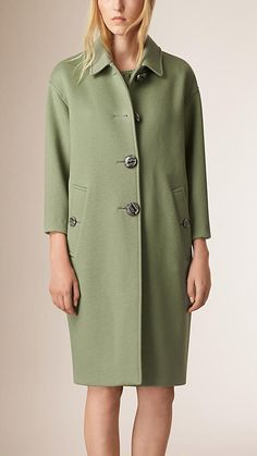 Apple green Unlined Cashmere Coat - Image 2