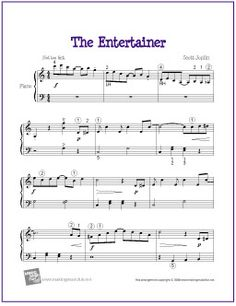 The Entertainer by Scott Joplin | Sheet Music for Easy Piano - http://makingmusicfun.net/htm/f_printit_free_printable_sheet_music/the-entertainer.htm