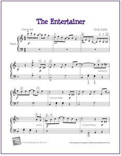 The Entertainer by Scott Joplin   Sheet Music for Easy Piano - http://makingmusicfun.net/htm/f_printit_free_printable_sheet_music/the-entertainer.htm