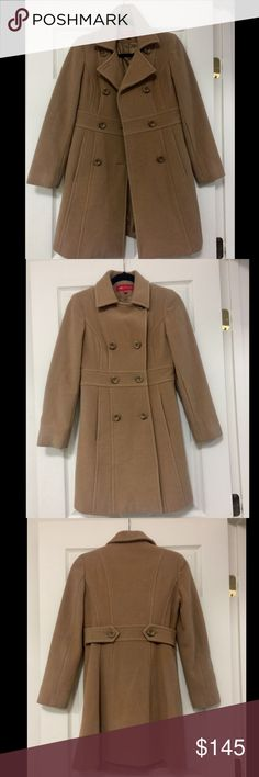 ANNE KLEIN Wool Trench Coat This adorable piece was only worn twice! I need a warmer coat during winter here in AK . Feel free to ask me questions!  Anne Klein Jackets & Coats Trench Coats