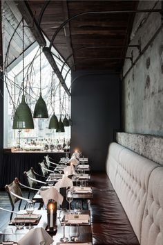 Dill restaurant  **Do I want seating against a wall? or tables?**