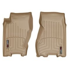 "WeatherTech 450521 Series Tan Front FloorLiner - FloorLiner(TM) In the quest for the most advanced concept in floor protection, the talented designers and engineers at WeatherTech(R) have worked tirelessly to develop the most advanced floor protection available today! The WeatherTech(R) FloorLiner(TM) accurately and completely lines the interior carpet giving ""absolute interior protection(TM)""! The WeatherTech(R) FloorLiner(TM) lines the interior carpet up the front, back and even up the…"