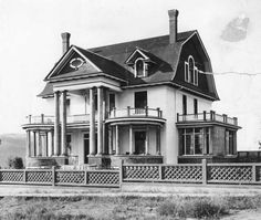 Smith House, Vernon, BC Oh.the music school. It's weird to see it without all of the trees it has now! Vernon Bc, Quebec City, Historical Pictures, Banff, History Facts, British Columbia, Vintage Photos, Vancouver, Abandoned