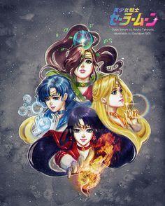 Fanart by DavidPan. - World of Eternal Sailor Moon Sailor Moon Fan Art, Sailor Saturn, Sailor Moon Crystal, Sailor Venus, Sailor Mars, Pluto Planet, Sailor Moon Wallpaper, Otaku, Sailor Mercury