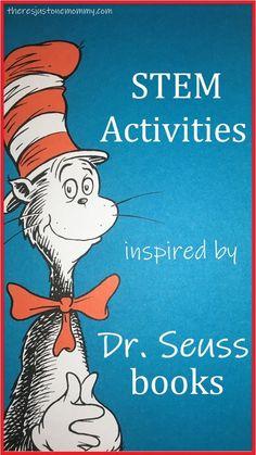fun STEM activities for Dr. Seuss books #STEMactivities #DrSeussactivities #DrSeuss