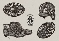 Toulouse SOET Section Rugby on Typography Served — Designspiration