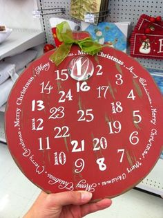 Thrifty Decor Chick: various takes on advent calendars Christmas Time Is Here, The Night Before Christmas, Christmas Past, Christmas Countdown, Christmas Holidays, Christmas Bulbs, Christmas Things, Holiday Fun, Holiday Ideas