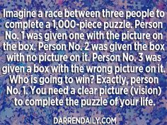 The Puzzle of Your Life - Darren Daily Day 2