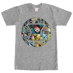 Black Widow Panels in Logo T-Shirt