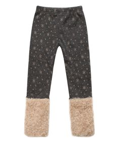 Richie House Gray Snowflake Fuzzy Cuff Leggings - Infant, Toddler & Girls by Richie House #zulily #zulilyfinds