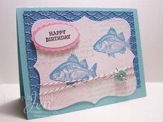 stamp it with Jen: A color Challenge card using Stampin Up Set by the tide.