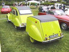 2 CV.......FLICKR....... Car Trailer, Camper Trailers, Vintage Cars, Antique Cars, 2cv6, Custom Trailers, 4x4, Automobile, Car Humor