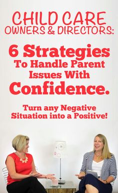 Ever had to deal with an angry or upset parent at your child care? This FREE training gives you 6 strategies to handle parent issues with confidence and turn a negative situation into a positive! Get the strategies you need to make your child care better than ever!