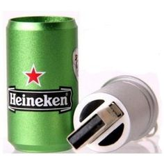 The next time you feel the need to grab yourself a Heineken to drink, grab one to store your data in too. This Heineken USB Flash Drive looks just like a Gadgets And Gizmos, Cool Gadgets, Usb Drive, Usb Flash Drive, Best Laptops, Best Gifts For Men, Cool Tech, Cool Phone Cases, Computer Accessories
