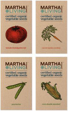 Organic Seed Packaging by Kristina Shu, via Behance