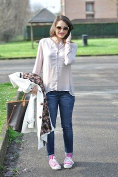 The Voile Shirt (by Melissa Cabrini) http://lookbook.nu/look/4772299-Tiffosi-Shirt-Luijo-Jeans-Louis-Vuitton-Bag