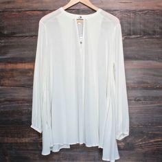 let loose gauze flowy tunic top - shophearts - 1