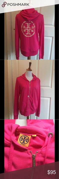 Beautiful Pink Tory Burch Fleece Zip Up Gorgeous excellent condition authentic Tory Burch  Size M pink Tory Burch Jackets & Coats