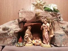 Away in a manger. Away In A Manger, Fontanini Nativity, Silent Night, Portal, Christmas Decorations, Crafts, Xmas, Christmas Decor, Crafting