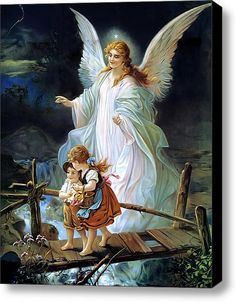 For he will command his angels concerning you to guard you in all your ways.  Psalms 91:11  -  this picture was hung over the headboard of my bed as a child, I still remember feeling safe..