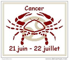 cancer signe astrologique au point de croix - Pesquisa do Google