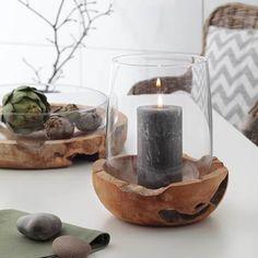 Terra Glass and Wood Lantern Hurricane Lanterns, Metal Lanterns, Large Pillar Candles, Design Ideas, Diy Crafts For Adults, Glass Votive, Diy Wood Projects, Tea Light Holder, Porta Velas