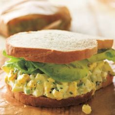 Proust had his tea and madeleines, but for many Americans, one bite of an egg salad sandwich, with a filling that dribbles out between the bread slices, is what transports them back to their childhood. Allowing the whole eggs to stand in the hot water, rather than boiling them, ensures against rubbery whites and gray-green yolks