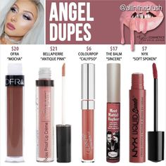 Kylie Cosmetics' new shade from The Holiday Collection in Angel dupes