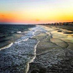 Sunset view from Garden City Beach, SC Pier Garden City Beach Sc, Places To See, Places Ive Been, Best Sunset, Beautiful Sunrise, Sunrises, Beach Bum, Myrtle, South Carolina