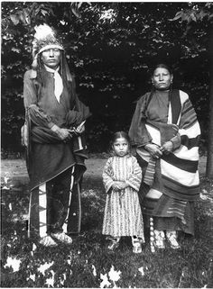 Sicangu family from the Rosebud Reservation, 1896