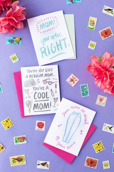 Three Free Printable Mother's Day Cards! | studiodiy.com Free Mothers Day Cards, Happy Mothers Day Poem, Mom Cards, Mothers Day Crafts, Cards Diy, Free Printable Stationery, Free Printable Cards, Free Printables, Flower Cake Toppers