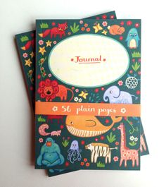 Animals Notebook by Emma Randall Illustration, the perfect gift for Explore more unique gifts in our curated marketplace. Unique Gifts, Great Gifts, Writing Lists, Color Patterns, Are You The One, Aztec, Stationery, Doodles, Doodle
