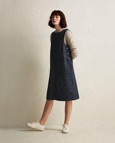 Women's Denim Sleeveless Workwear Dress