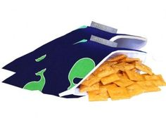 Itzy Ritzy Eco-Friendly MINI Reusable Snack Bag (whale watching blue) -- Check out the image by visiting the link.
